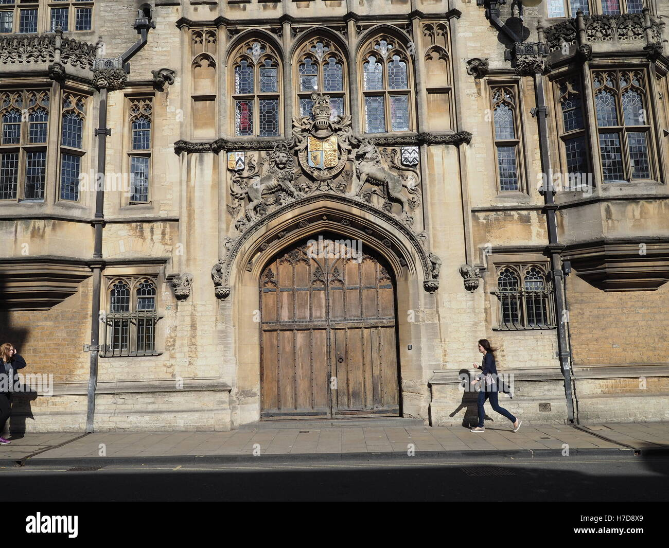 Oxford University, Brasenose College, High Street - Stock Image