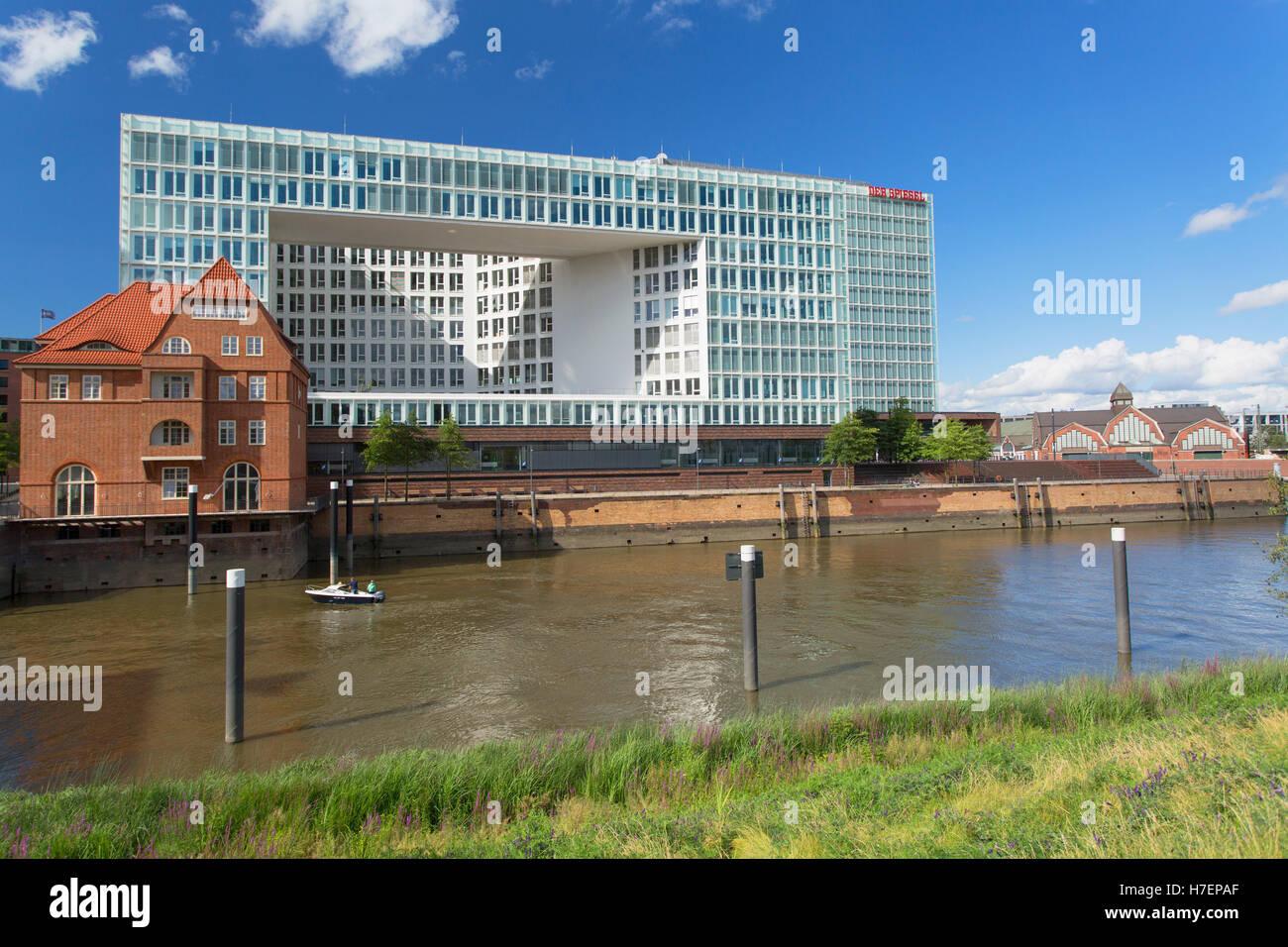 Der Spiegel building, HafenCity, Hamburg, Germany - Stock Image