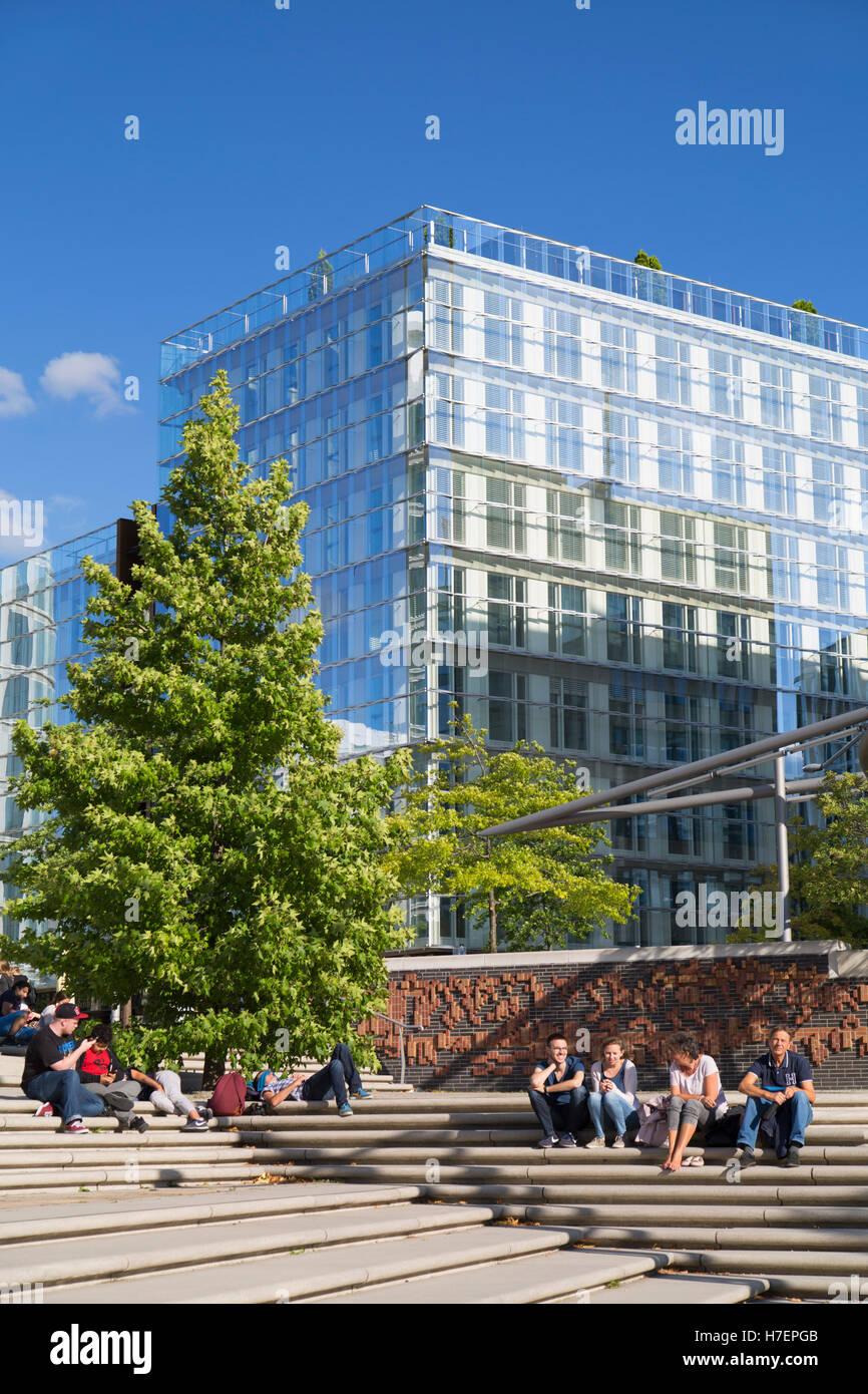 Magellan Terrace in HafenCity, Hamburg, Germany - Stock Image