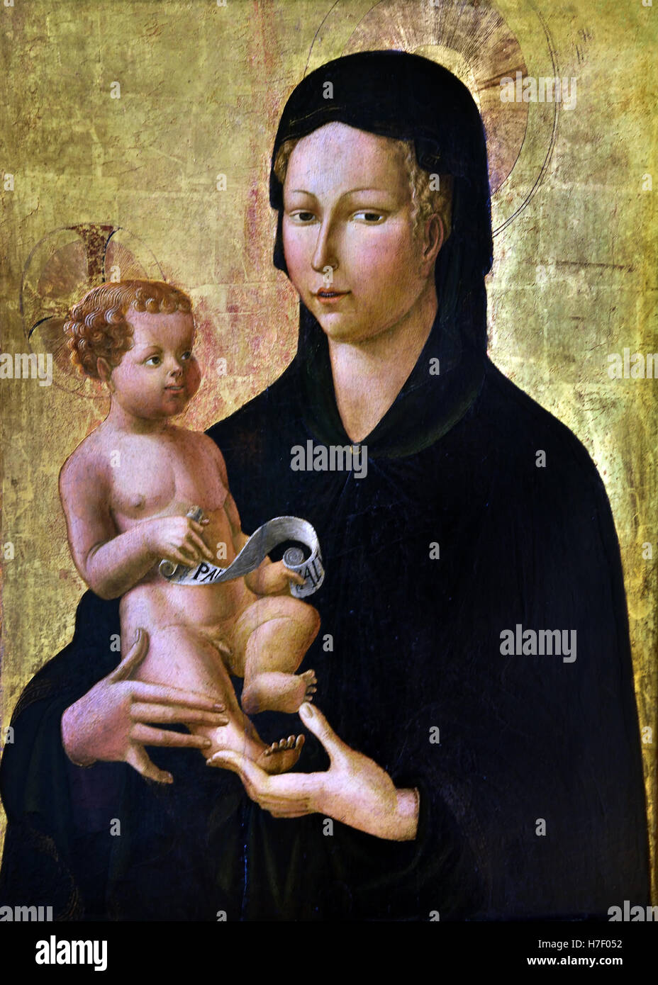 Mary with Child1450  Paolo Uccello 1397 – 1475 Paolo di Dono Italian painter and a mathematician who was notable - Stock Image