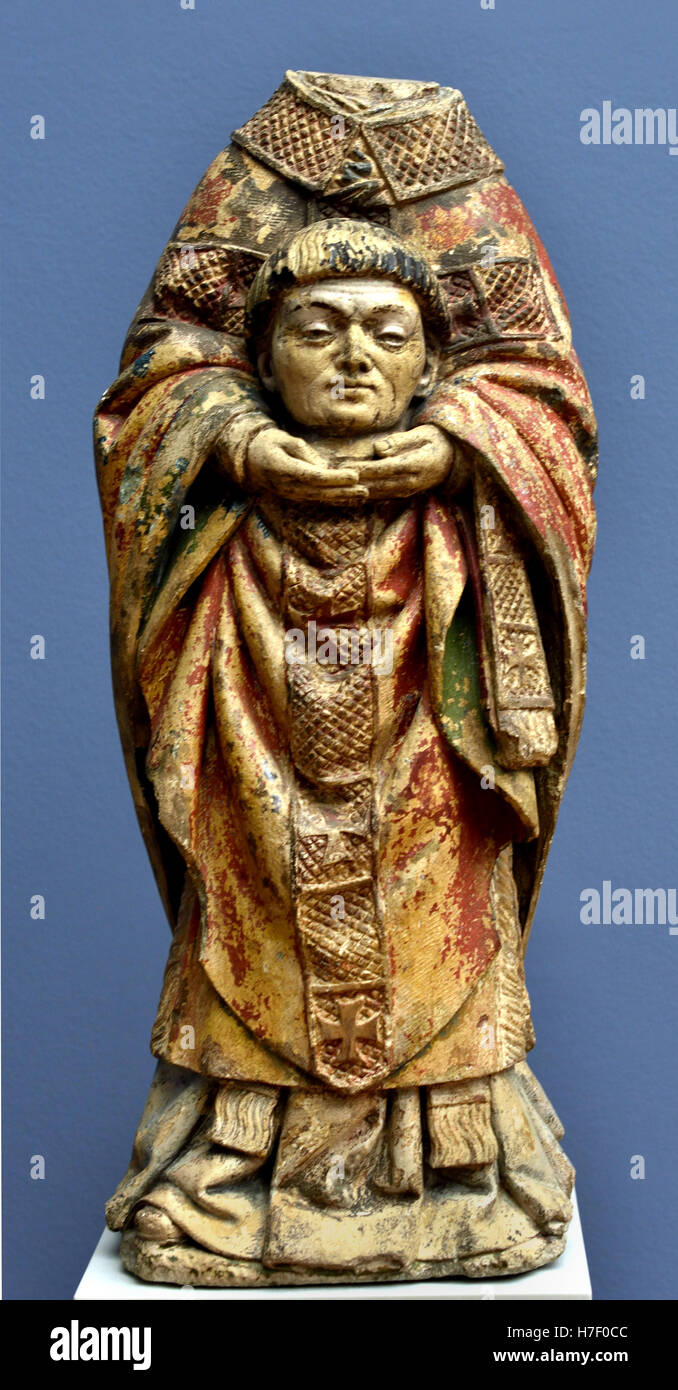The Holy St  Martin ( 316 - 397) was Bishop of Tours 15th Century  France French Stock Photo