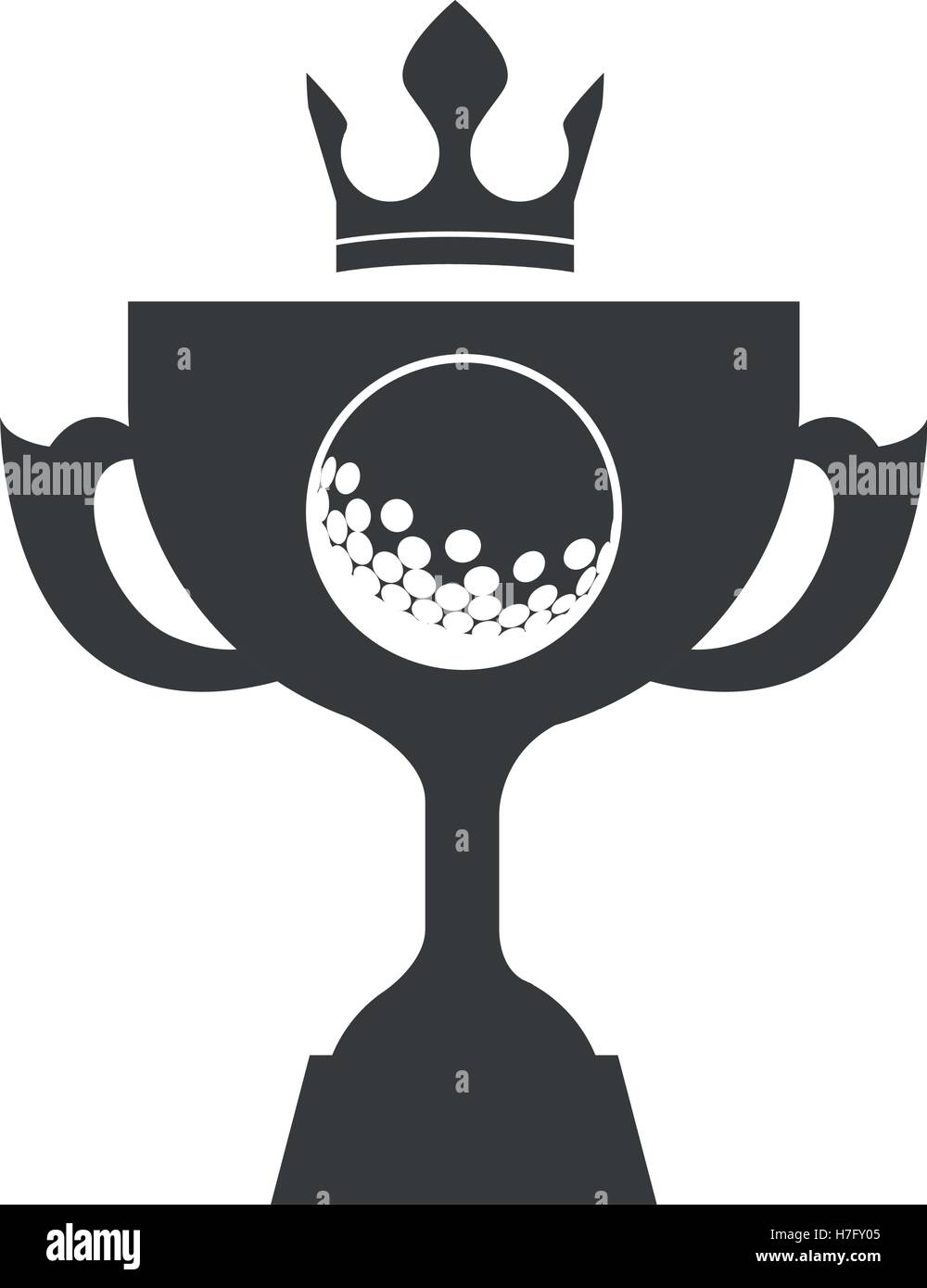 Golf Trophy Stock Vector Images Alamy