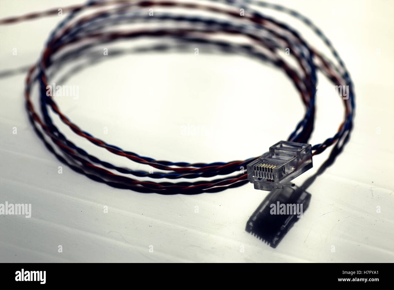 Admirable Plug Wire Color Lan Stock Photo 125125897 Alamy Wiring 101 Olytiaxxcnl