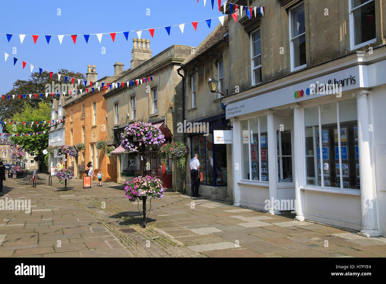 Historic buildings in town of Corsham, Wiltshire, England, UK Stock Photo
