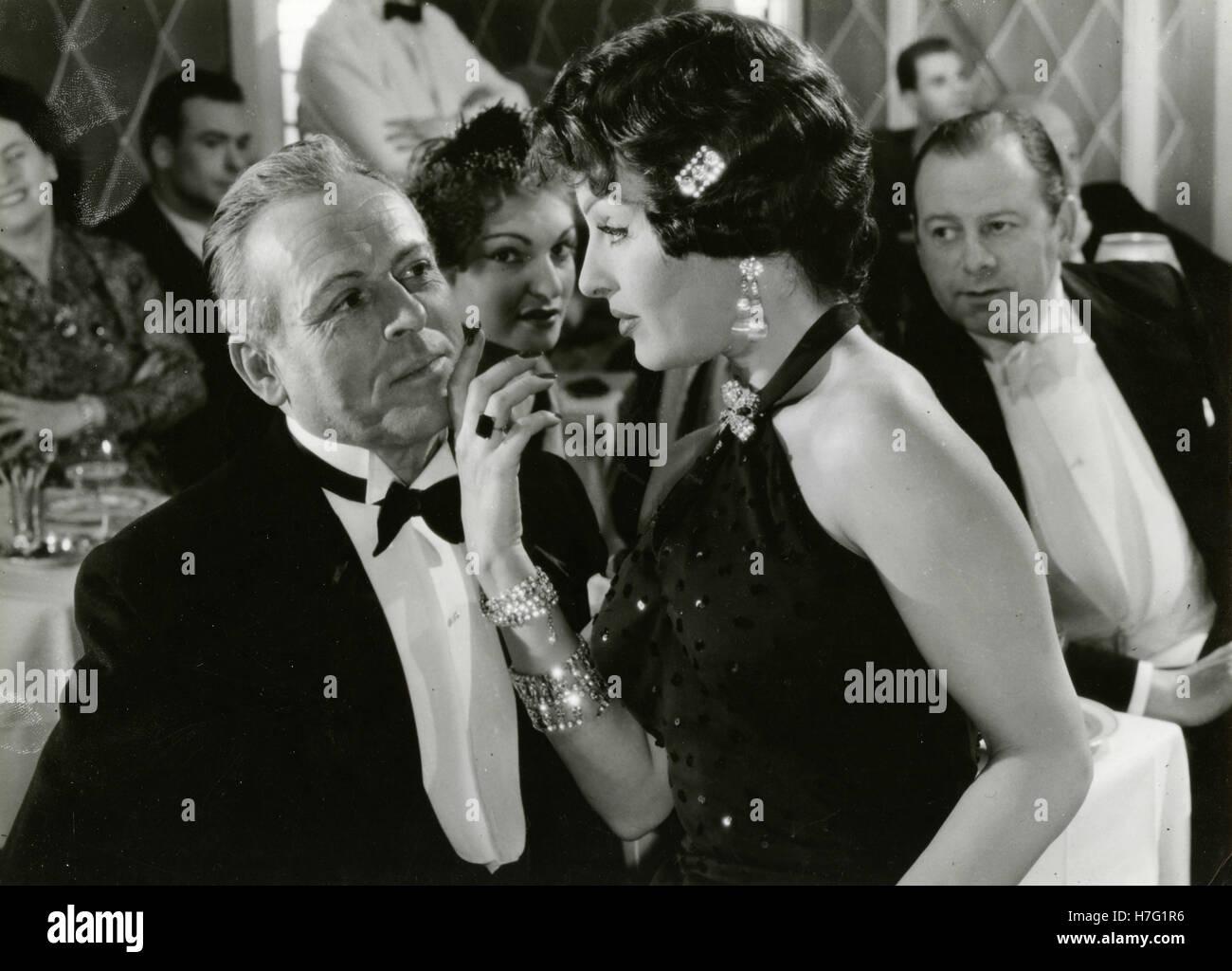 Actress Silvana Pampanini in the movie La Loi des Rues, France 1956 - Stock Image