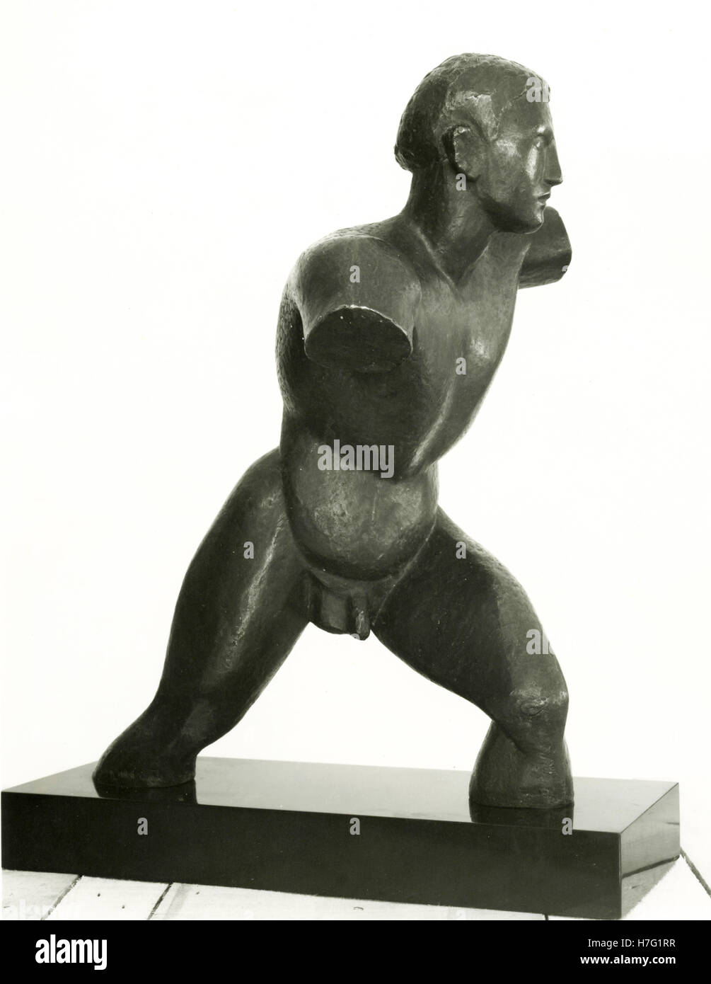 Statue of an athlet, by Raymond Duchamp Villon, France - Stock Image