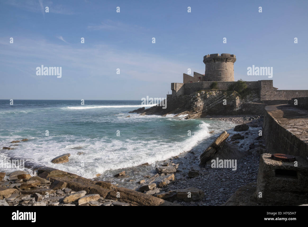 Socoa Fort on the Basque Coast Stock Photo