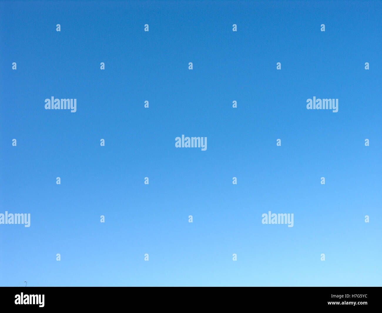 Surprisingly blue and clear sky - Stock Image