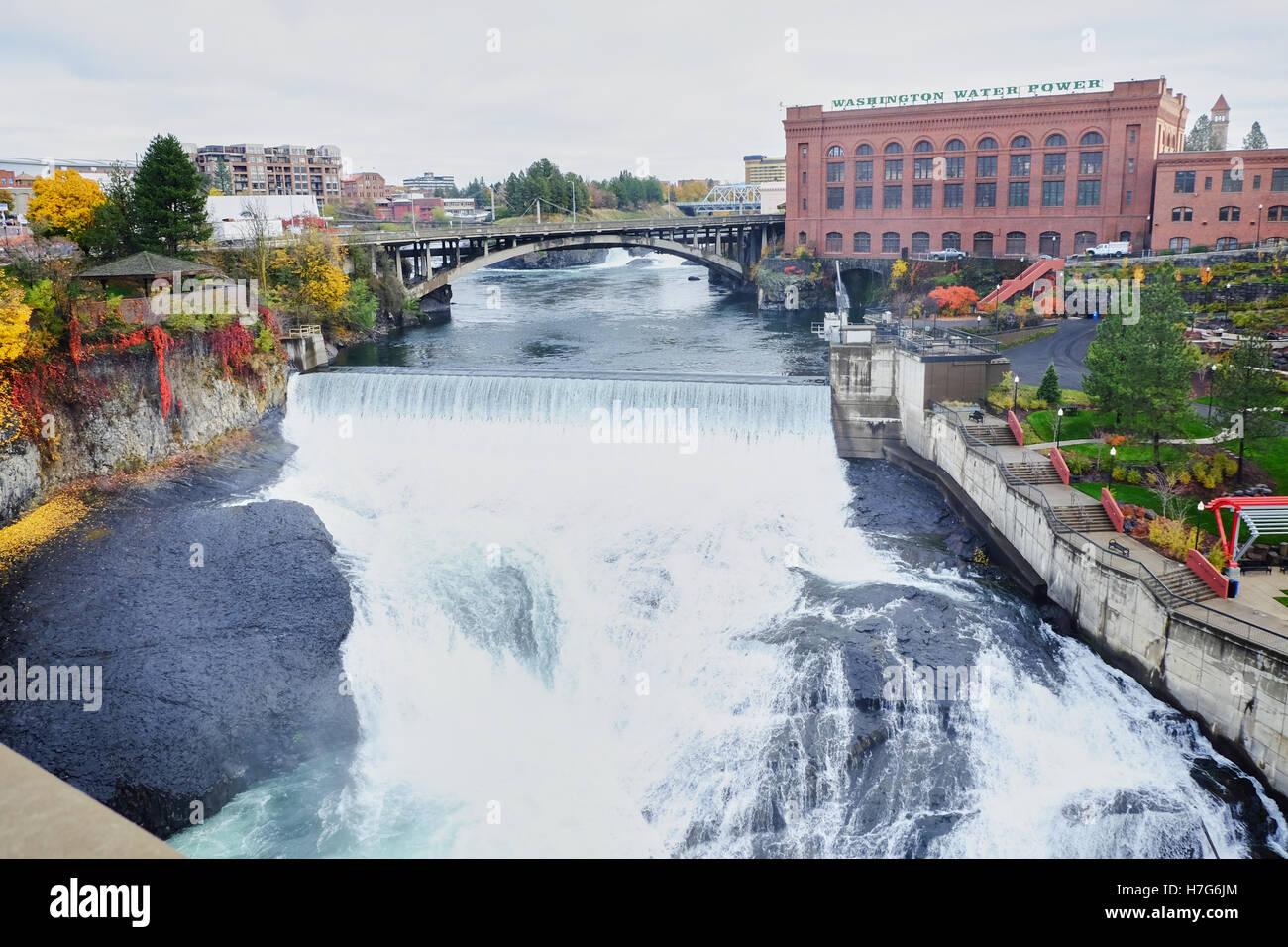 washington water power station - Avista Stock Photo