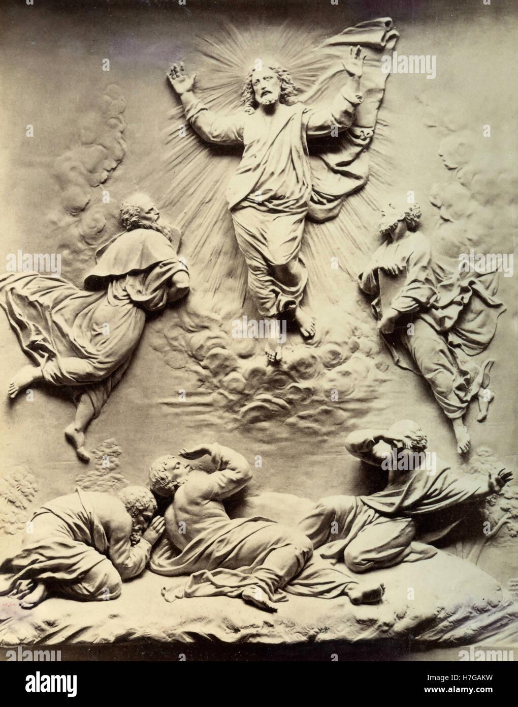 The Transfiguration of Jesus Christ, relief - Stock Image
