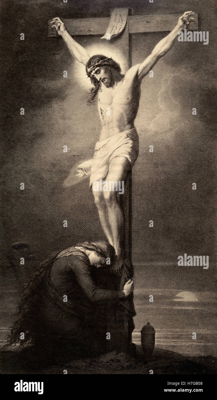 Mary Magdalene At The Cross Stock Photos Mary Magdalene At The