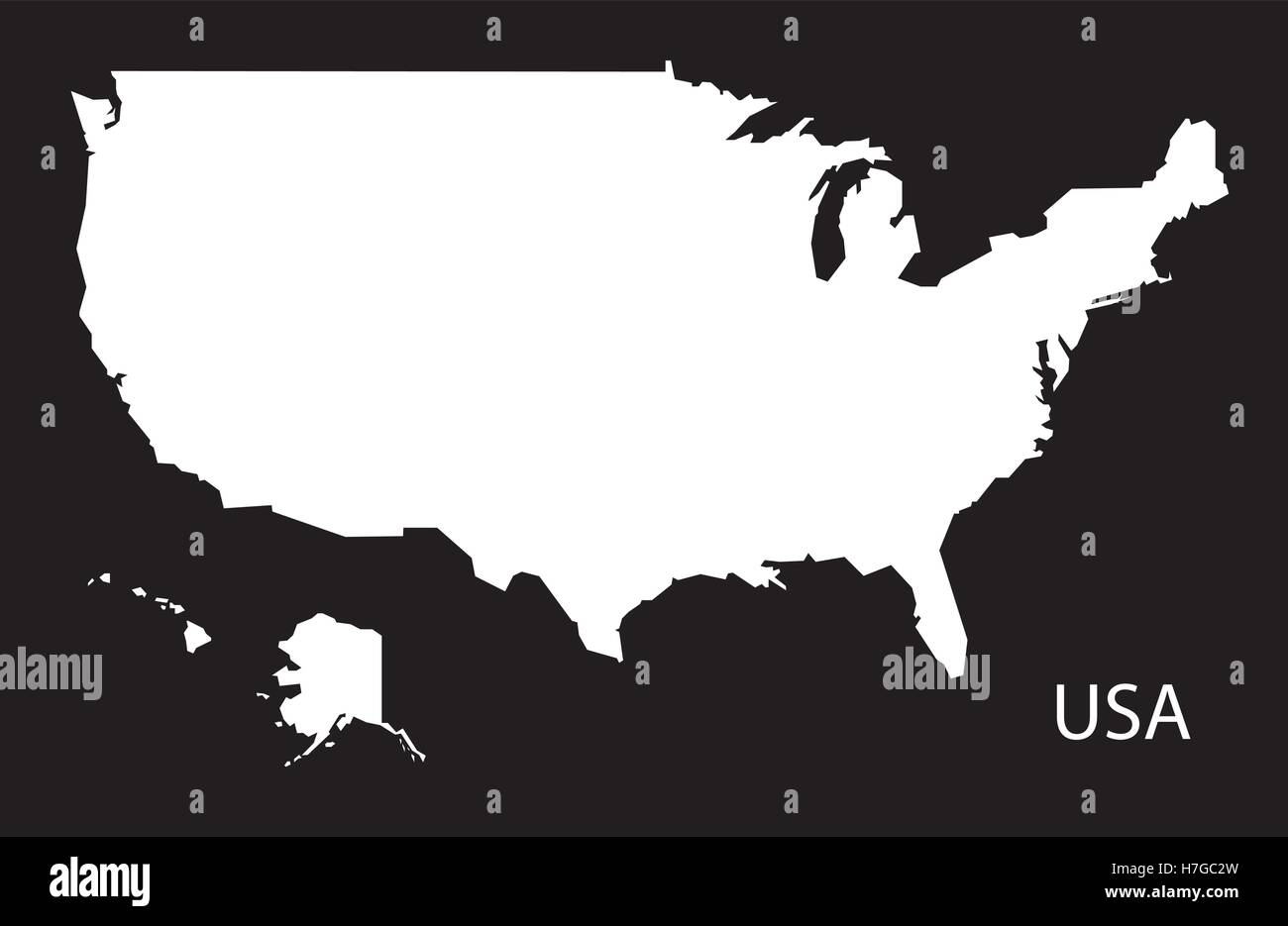 Usa Map Black.Usa Map Black White Stock Vector Art Illustration Vector Image