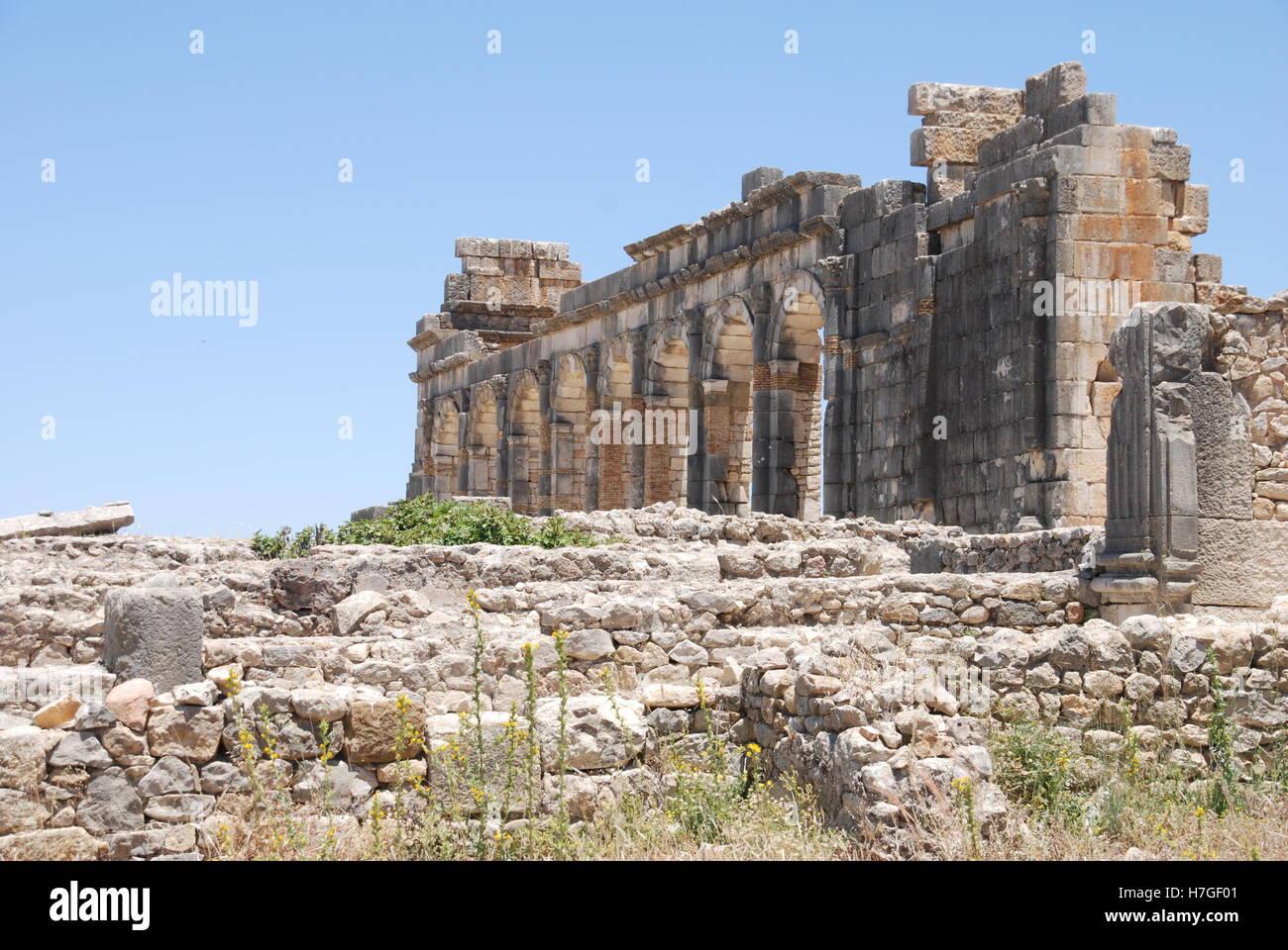 Volubilis Ruins in Morocco - Stock Image