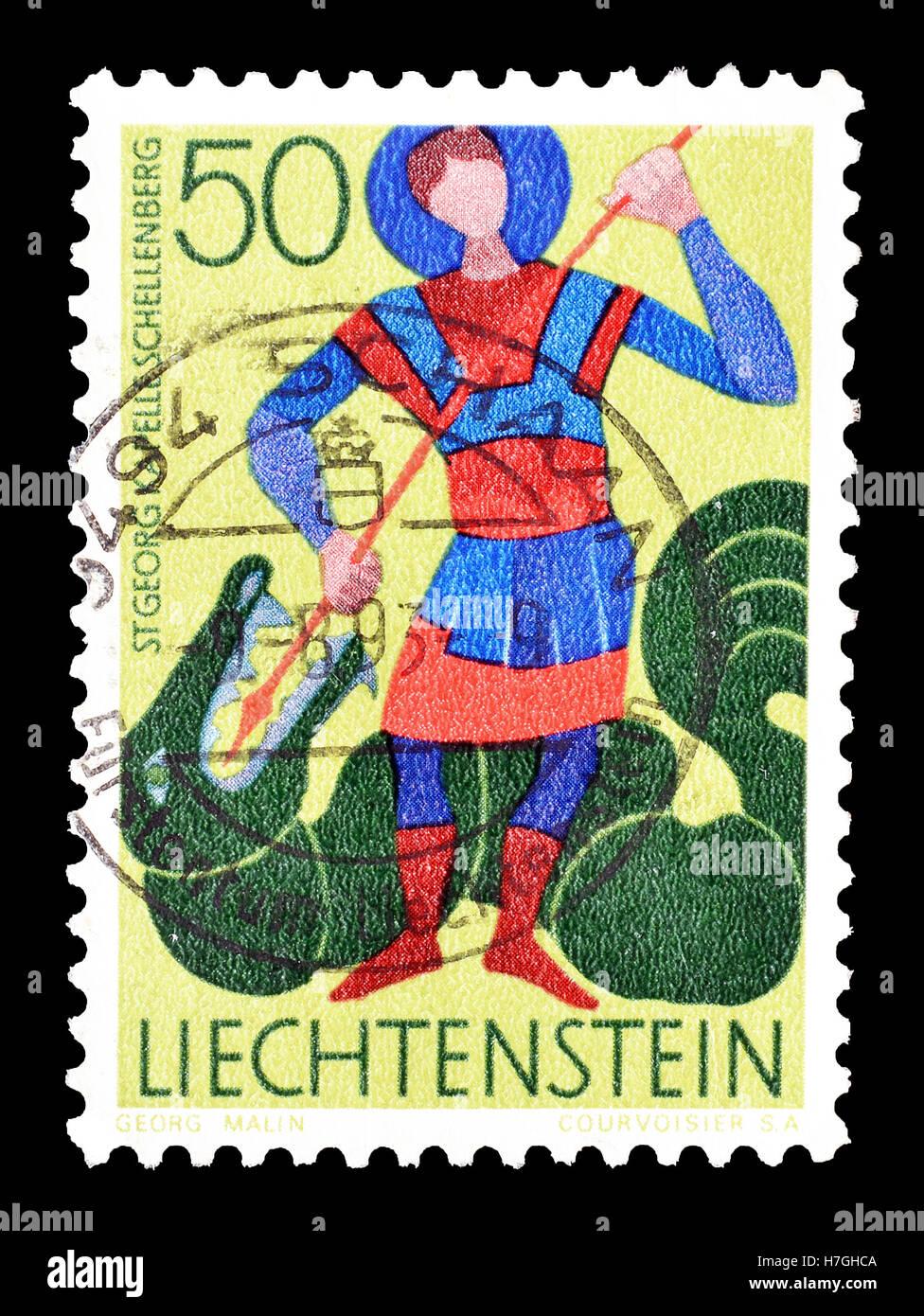 Liechtenstein stamp 1968 Stock Photo