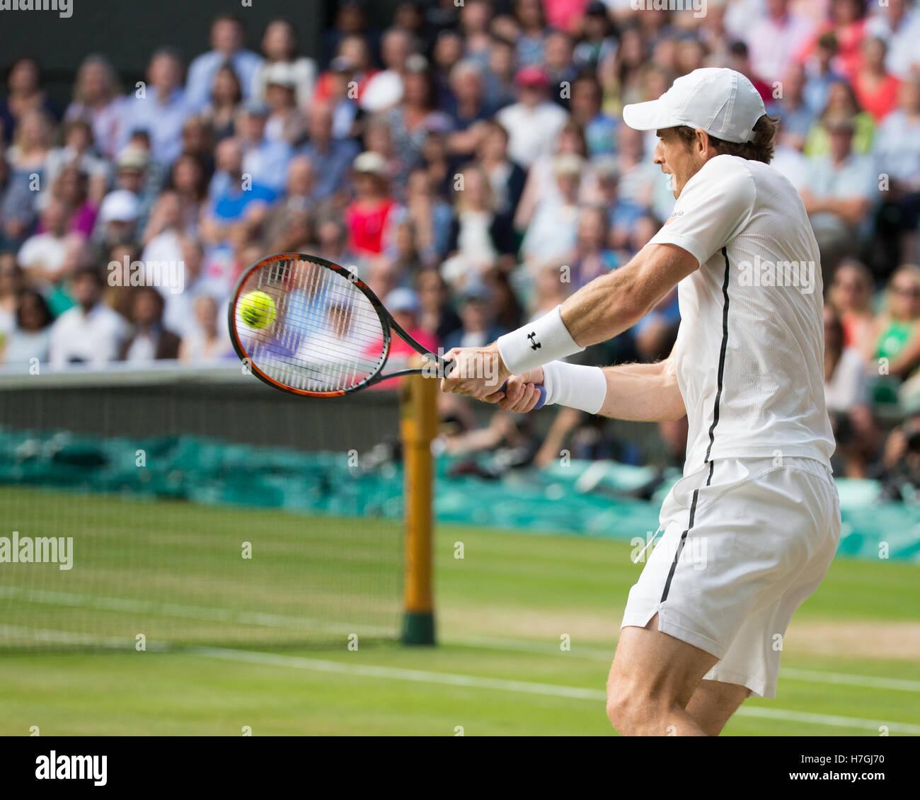 Andy Murray (GBR),Wimbledon Championships 2015, London,England Stock Photo