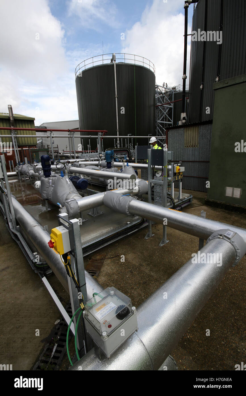 engineer at waste water treatment works - Stock Image