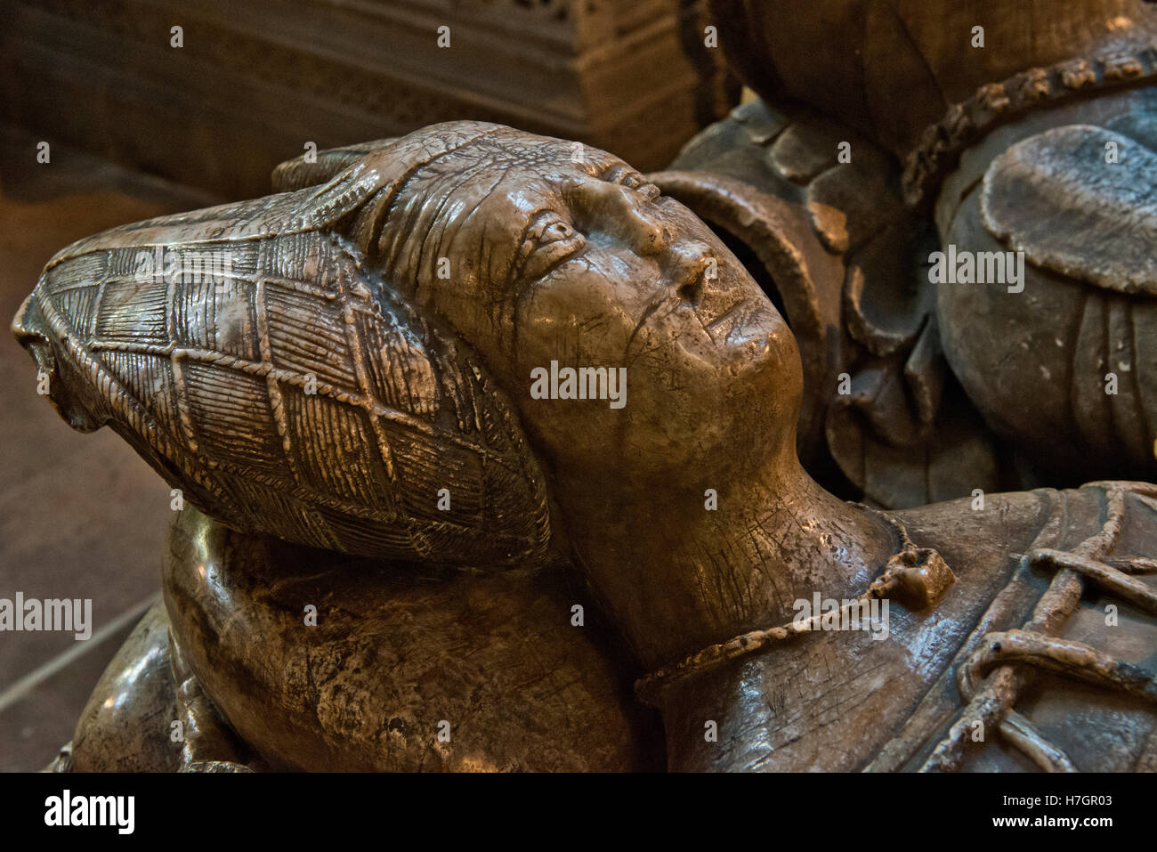Barbara FitzHerbert, wife of Sir Thomas Cokayne in the Boothby Chapel, St. Oswald`s Church, Ashbourne, Derbyshire, - Stock Image