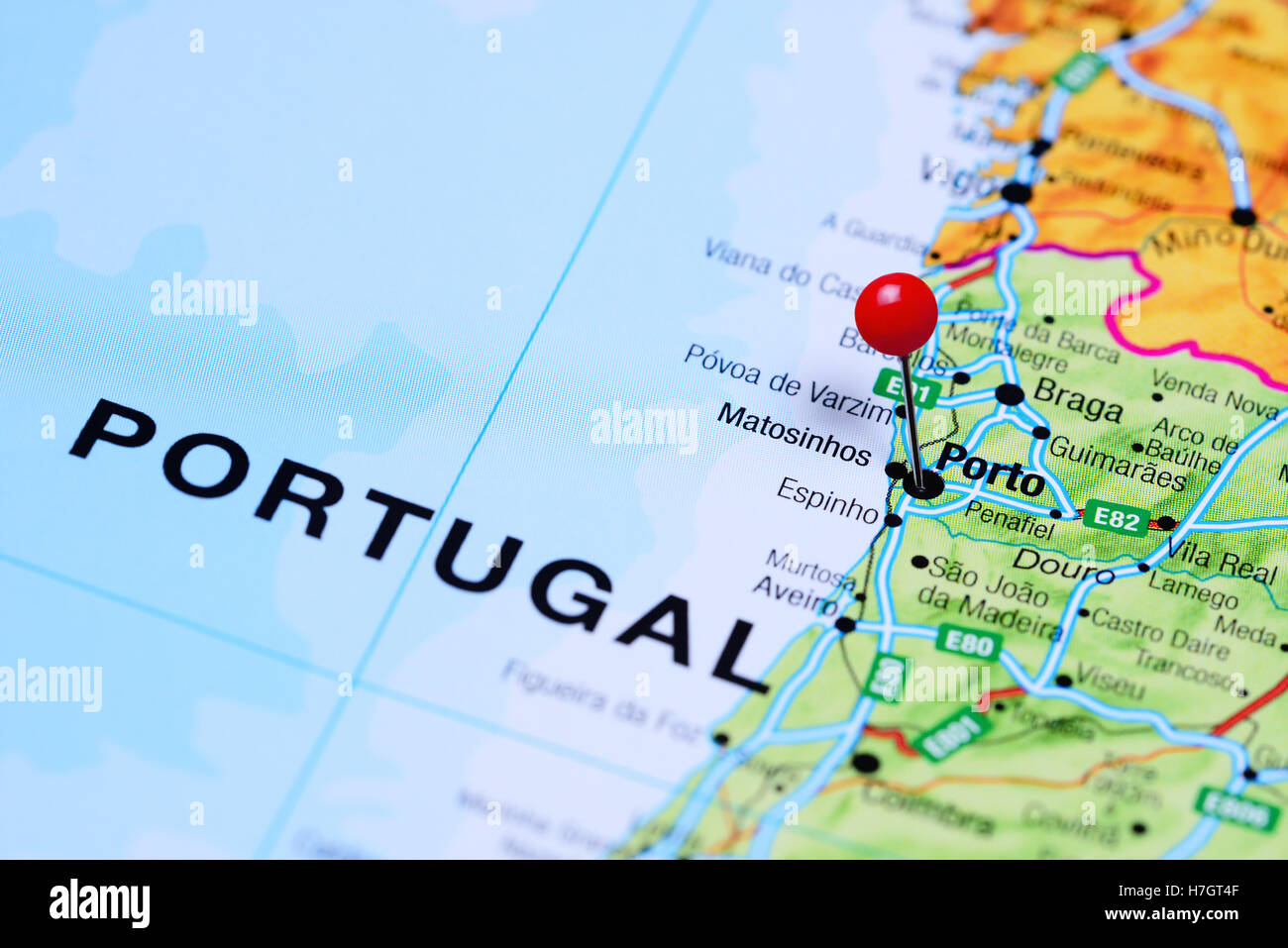 Porto Map Stock Photos Porto Map Stock Images Alamy