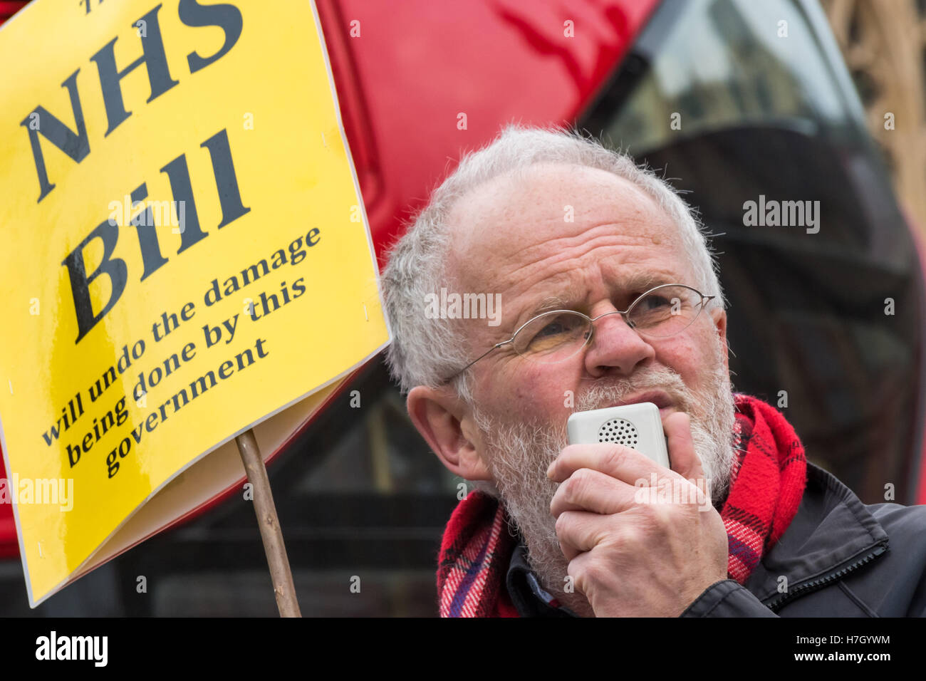 London, UK. 4 November 2016. Allyson Pollock, a BMA council member who  helped in promoting the bill speaks at the - Stock Image