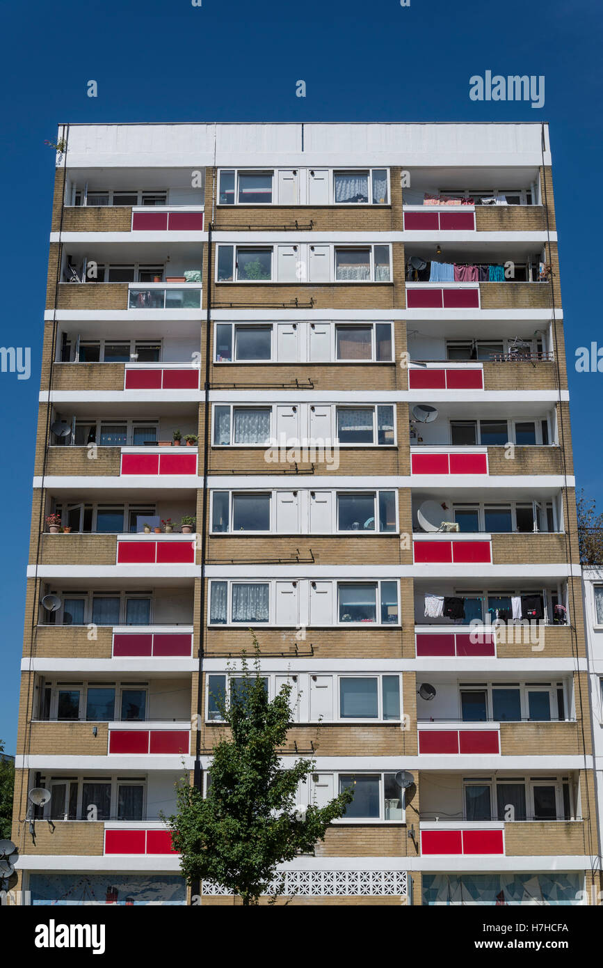 Social housing, Southampton, England, UK - Stock Image