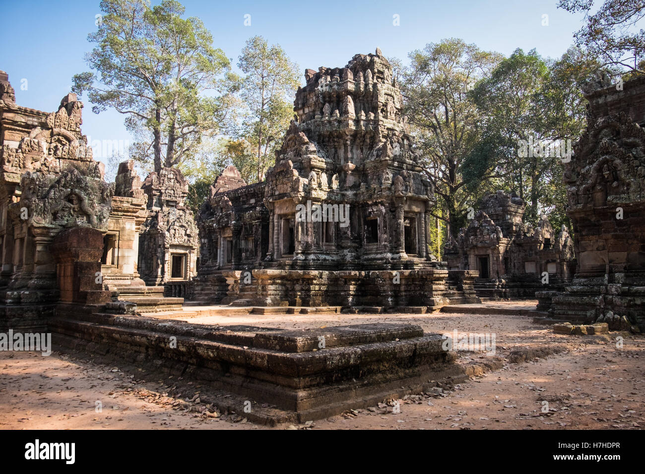 A general view of Chau Say temple in the Siem Reap, Cambodia - Stock Image