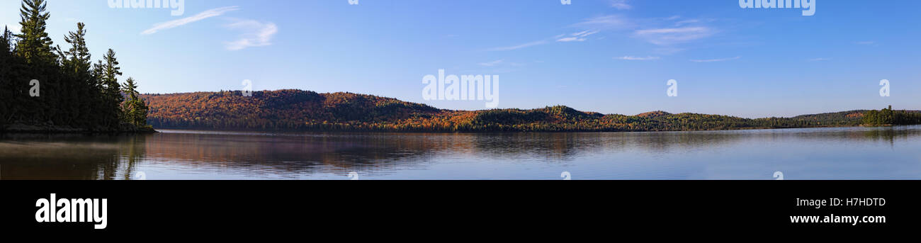 A Panorama view of Algonquin in fall - Stock Image