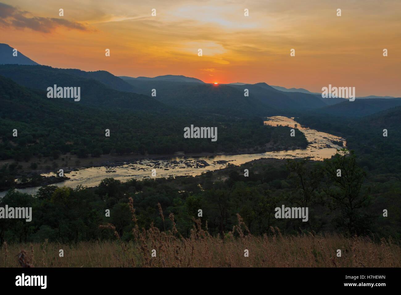 Cauvery River at Galibore (Karnataka, India) - Stock Image