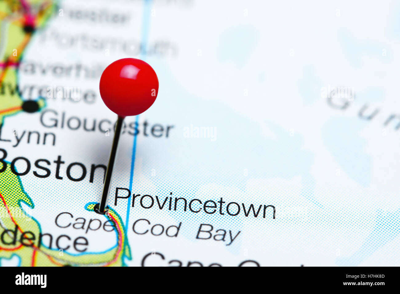 Map Of Provincetown Stock Photos Map Of Provincetown Stock Images