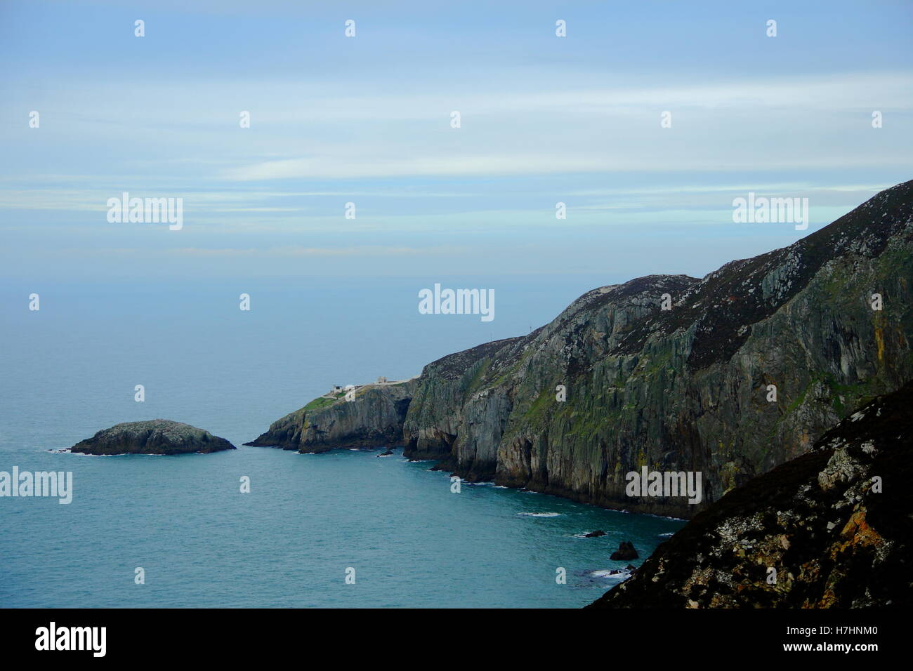 The dramatic coastline at North Stack,  Anglesey, Wales Stock Photo
