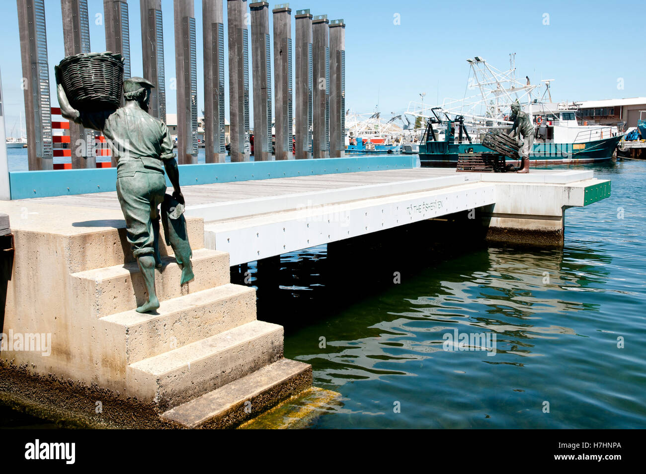 Monument to the Fishermen - Fremantle - Australia - Stock Image
