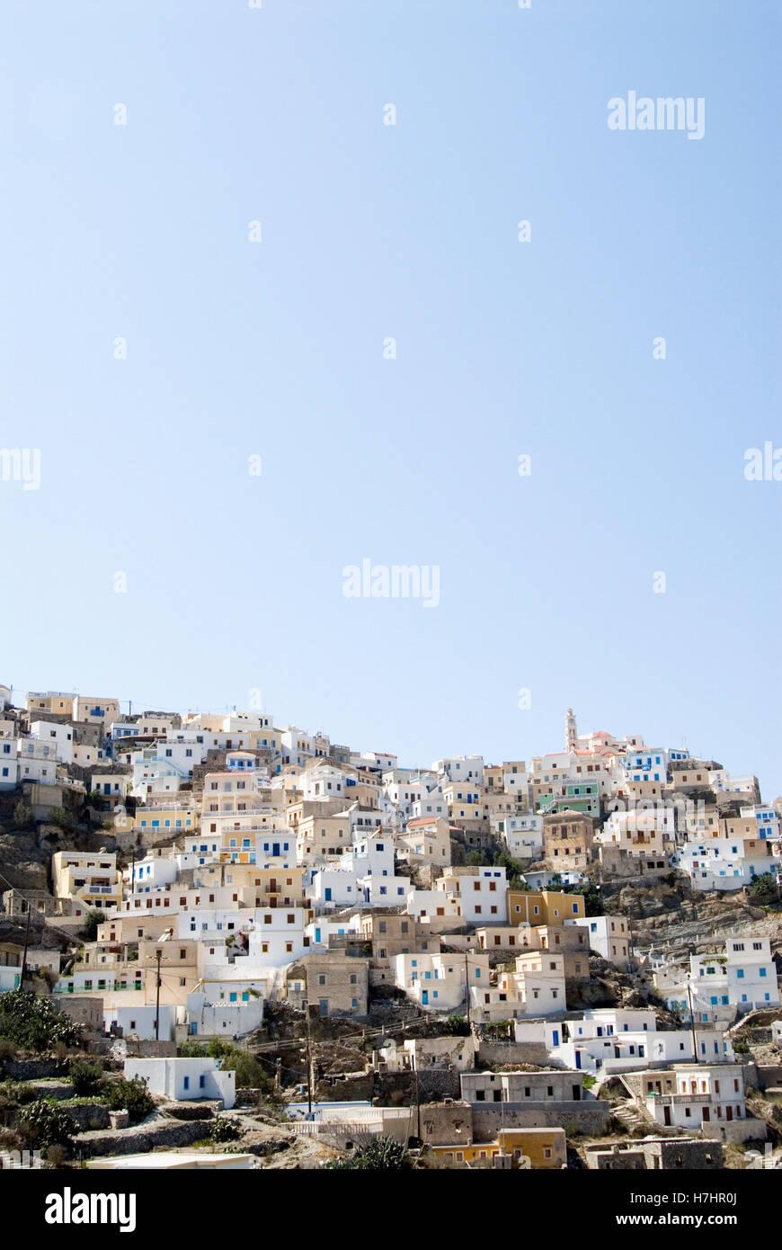 Mountain village of Olympos on the Greek island of Karpathos, Greece, Europe Stock Photo