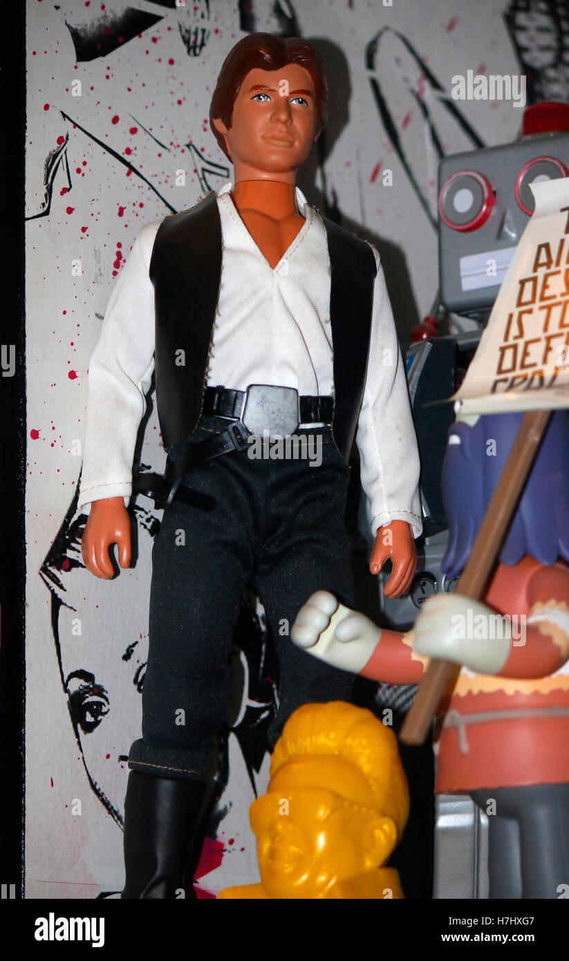 die von Harrison Ford gespielte 'Han Solo' Figur aus der Star Wars Saga, Berlin. - Stock Image
