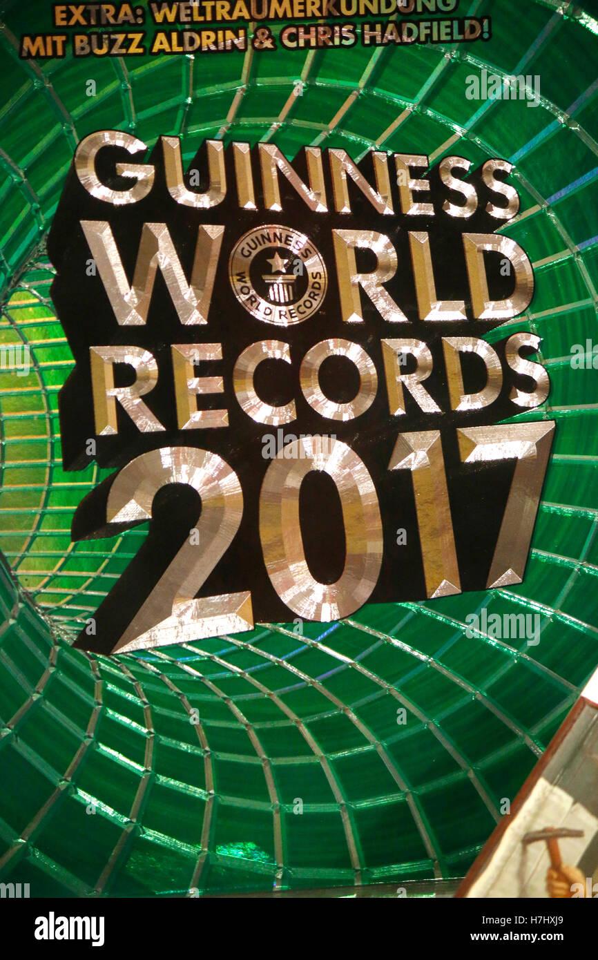 das Logo der Marke 'Guinness World Records 2017', Berlin. - Stock Image