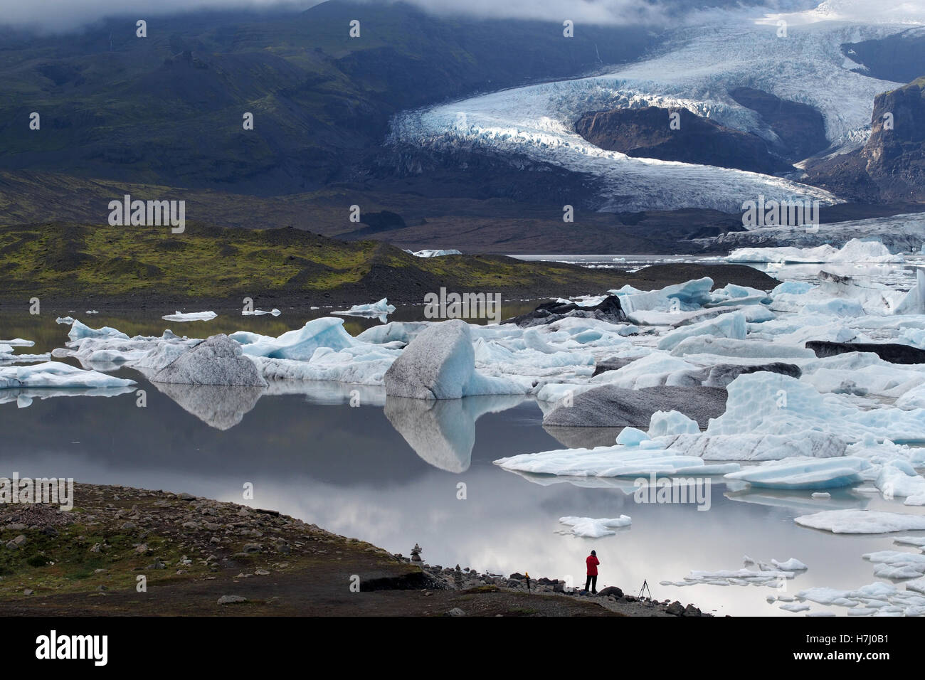 skaftafell glacier, fjallsárlón iceberg lagoon, iceland Stock Photo