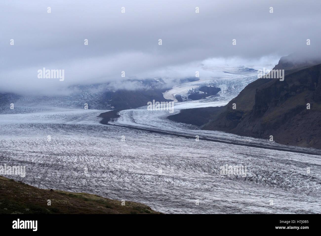 skaftafell glacier, iceland - Stock Image