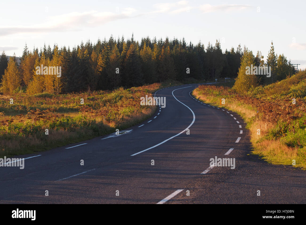 Driving holiday ROAD TRIP  in Iceland - Stock Image