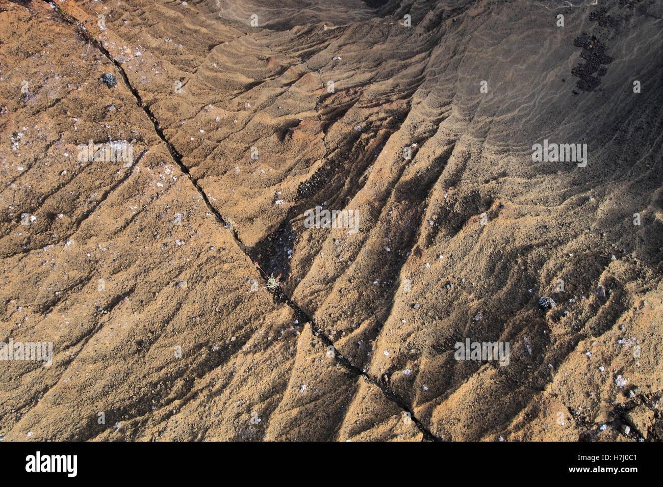 Volcanic Rock patterns in Reykjanesfólkvangur, Iceland - Stock Image