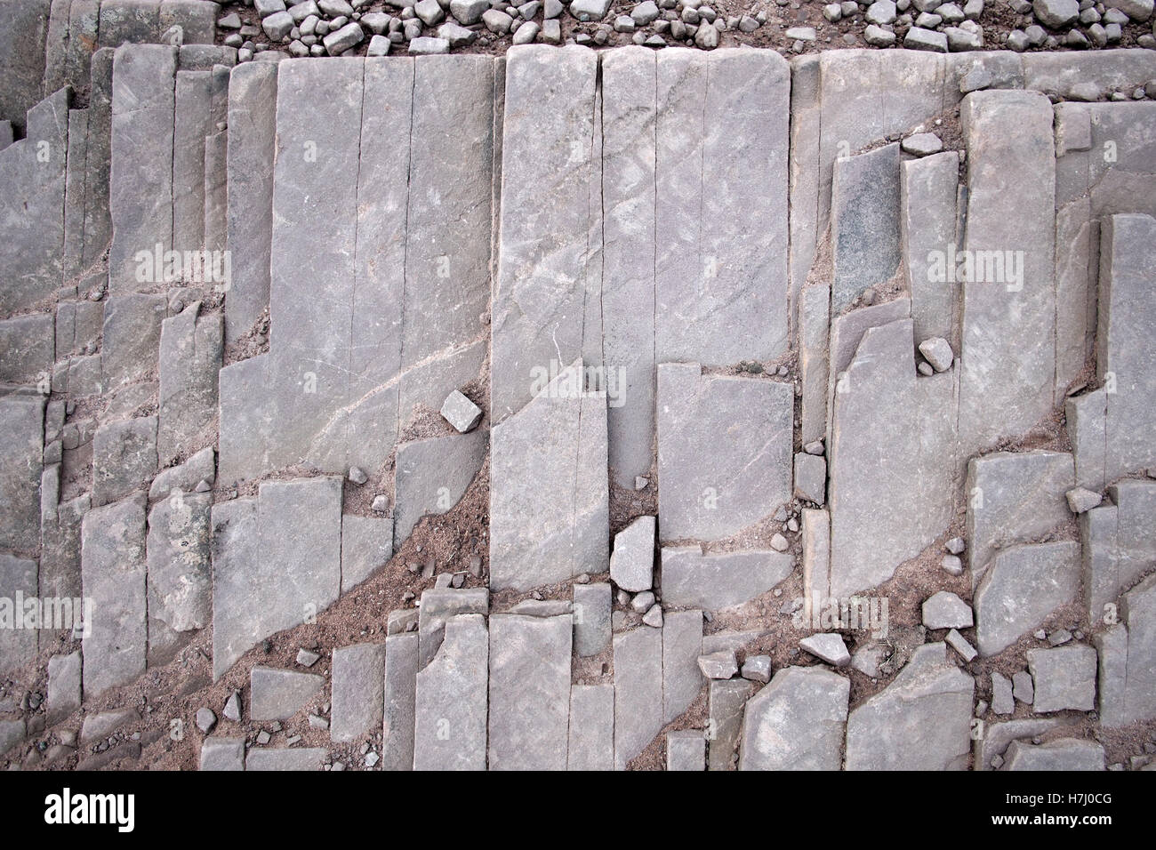 Natural rock stone patterns in Brecon Beacons Wales UK Stock Photo