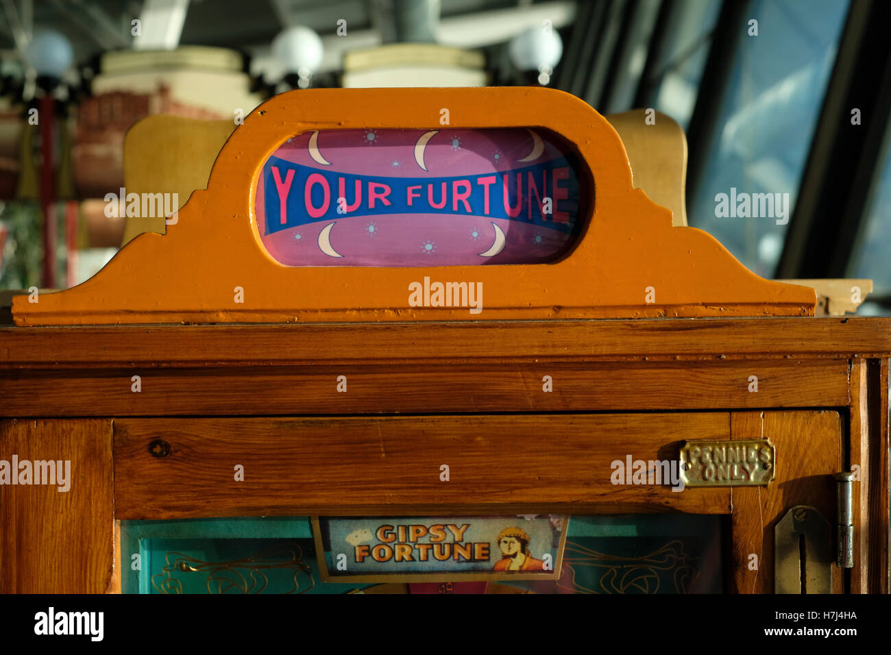 Your Fortune machine at the Pavilion at the end of Southport Pier - Stock Image