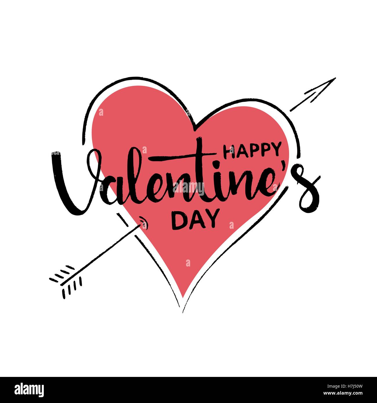 Happy Valentines Day Words Stock Vector Images Alamy