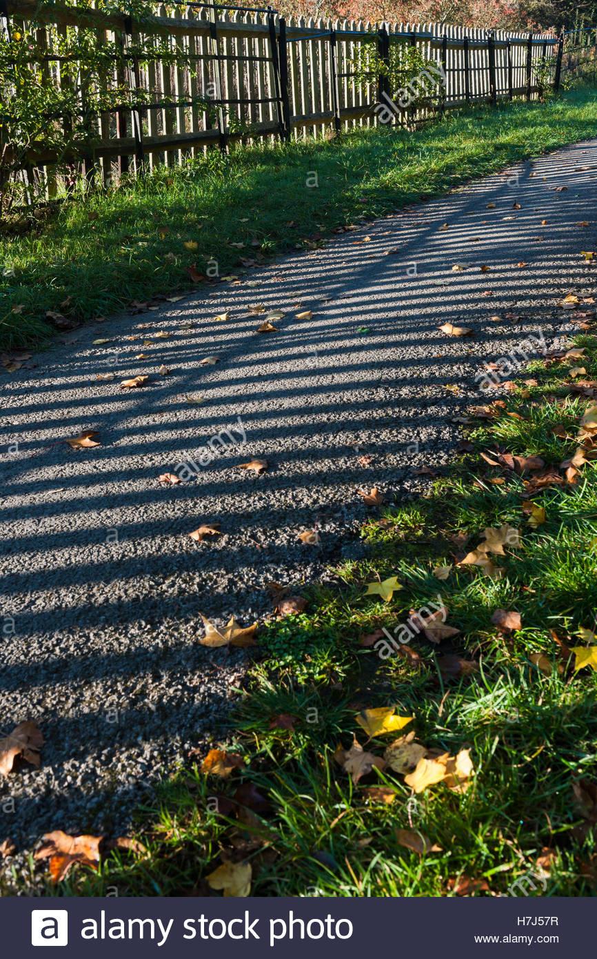 tarmac gravel surface path - Stock Image