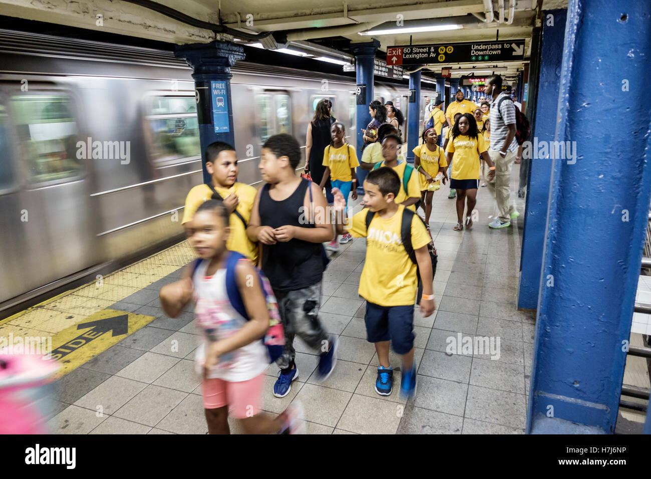 Manhattan New York City NYC NY Upper East Side subway MTA public transportation 59 Street Lexington Avenue station Stock Photo