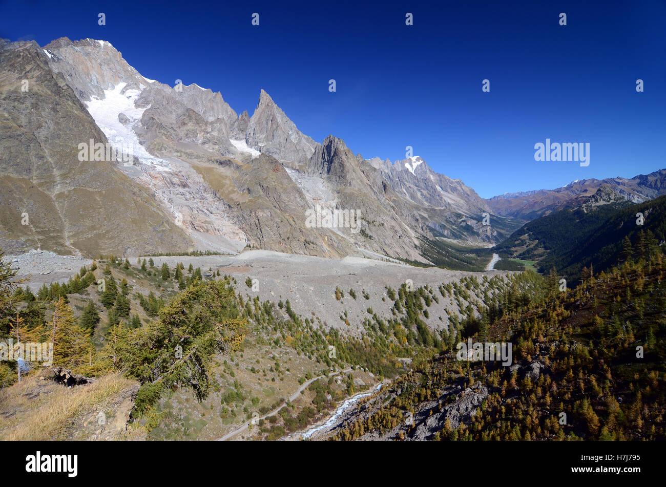 Glacier du Miage - Stock Image