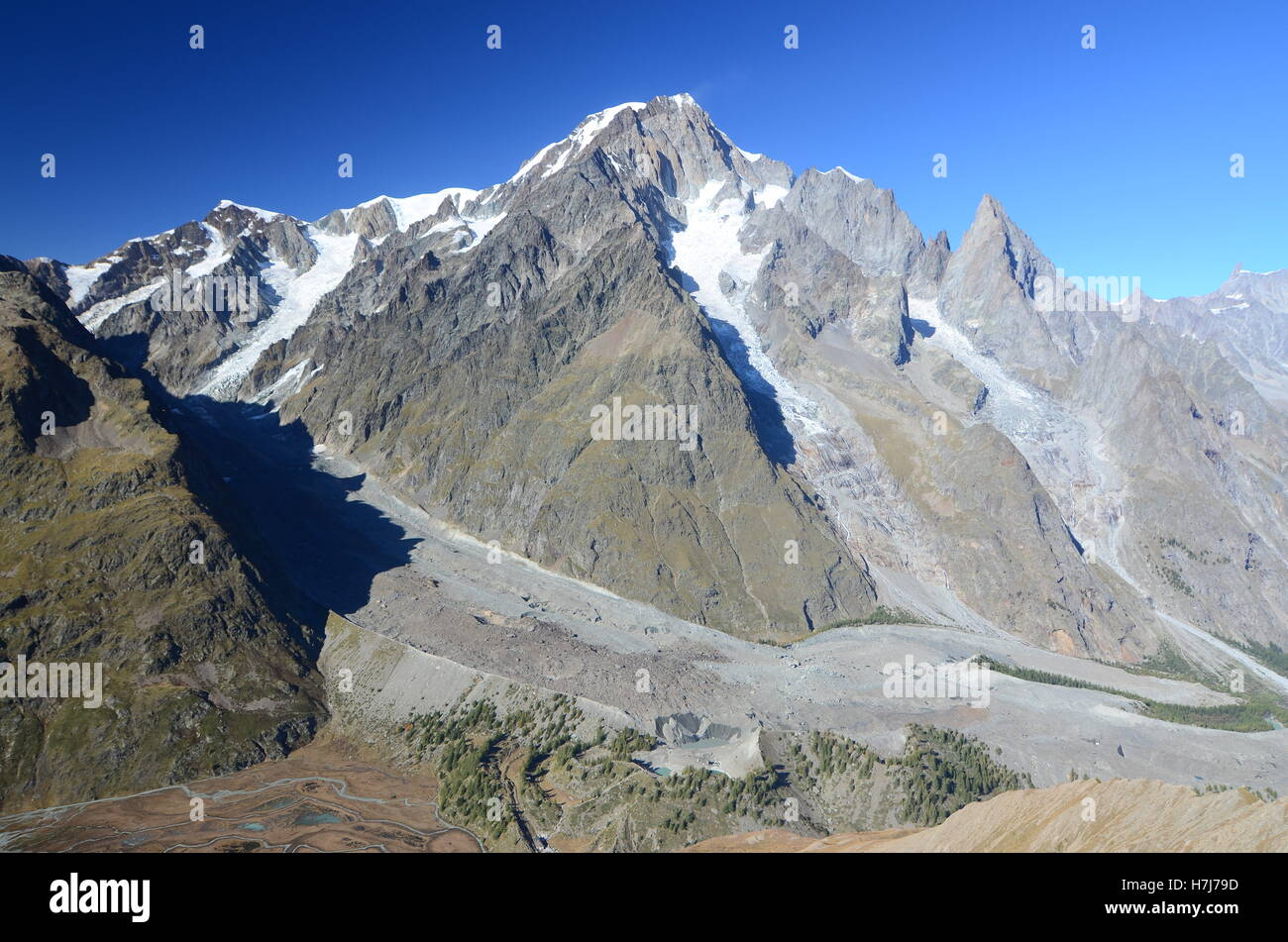View on Val Veny - Stock Image