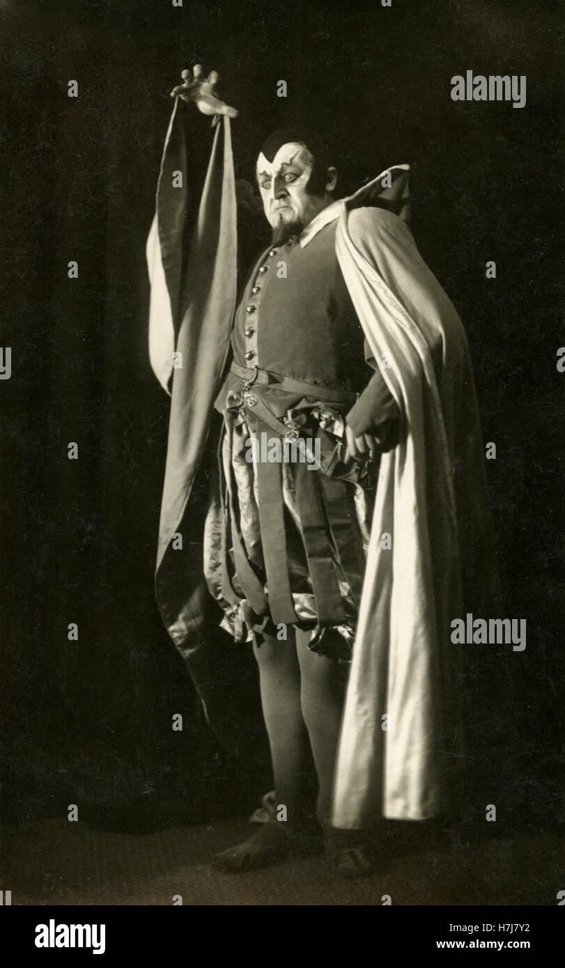 Italian opera singer Giacomo Vaghi playing Faust - Stock Image