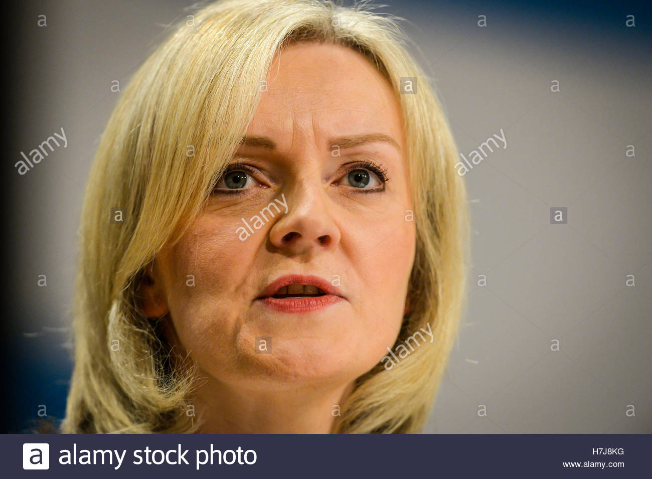 "File photo dated 04/10/16 of Lord Chancellor Liz Truss, as the Bar Council has called upon her to condemn the ""serious - Stock Image"