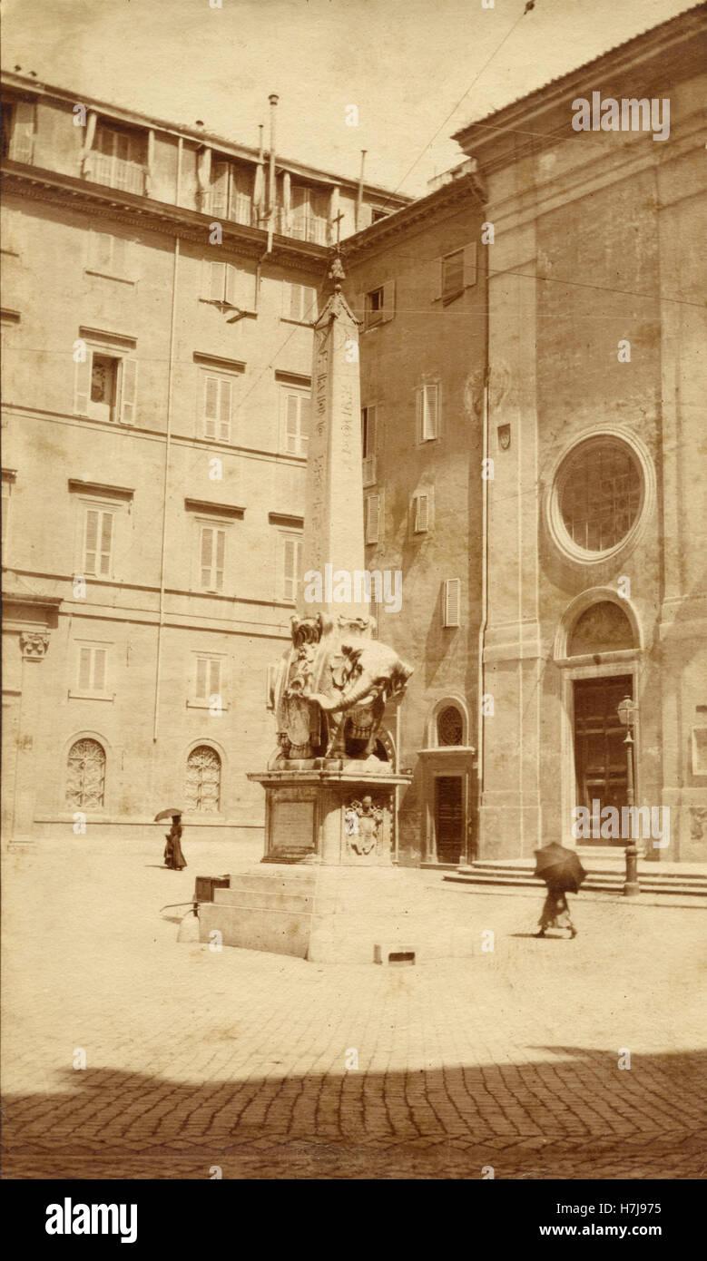 Piazza della Minerva, Rome, Italy - Stock Image