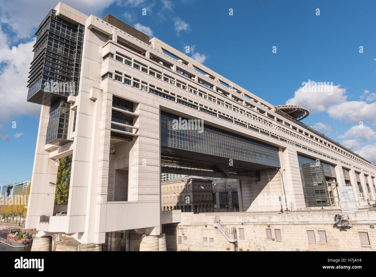 PARIS, FRANCE - 05 NOVEMBER 2016- Headquarters of the French Ministry of Finance and Economy in Bercy neighborhood - Stock Image