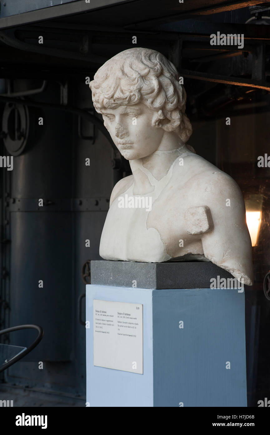 Statue of Antinous. Centrale Montemartini Museum. Rome, Italy - Stock Image