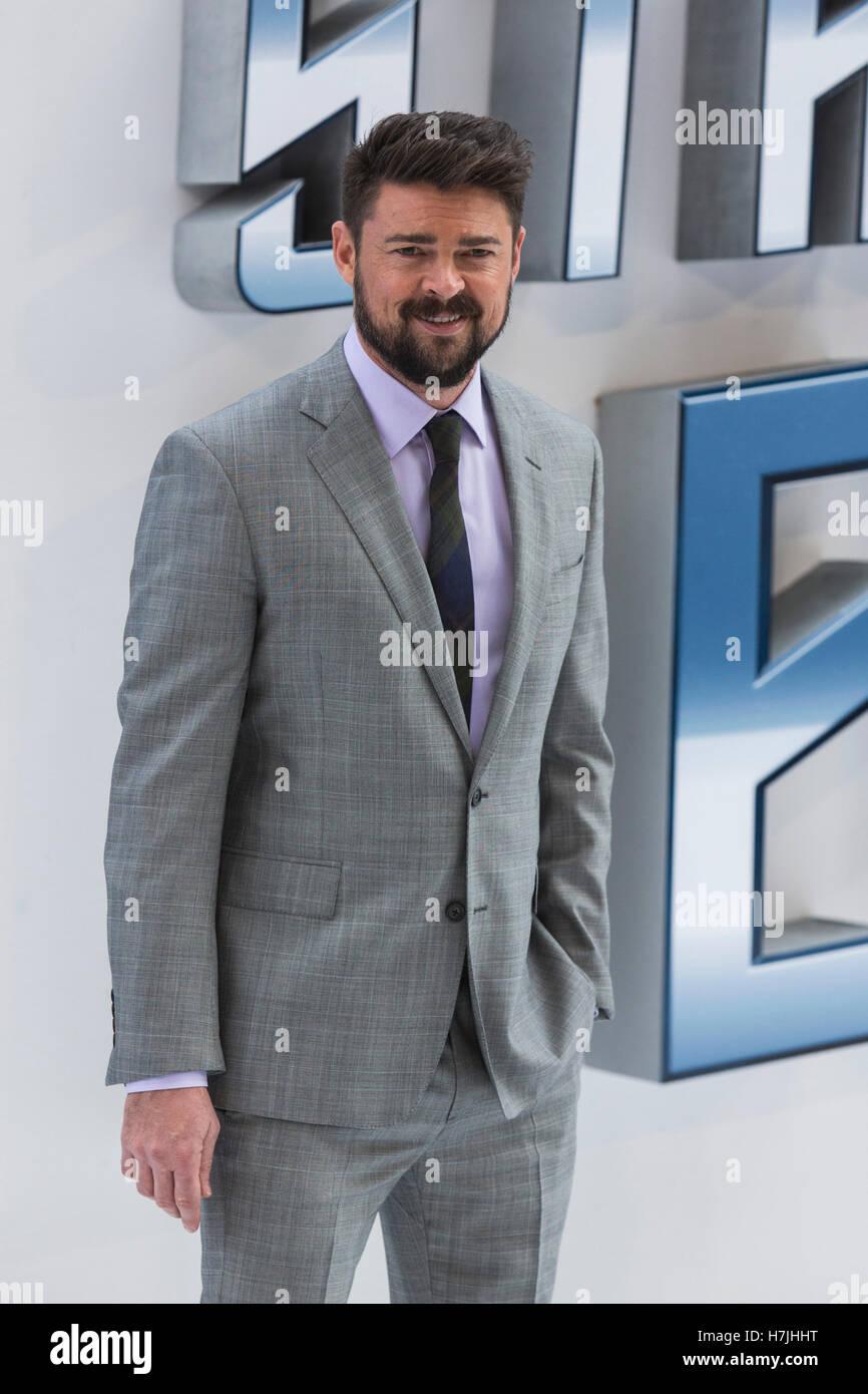 Actor Karl Urban (Dr Bones McCoy)  Red carpet arrivals for Star Trek